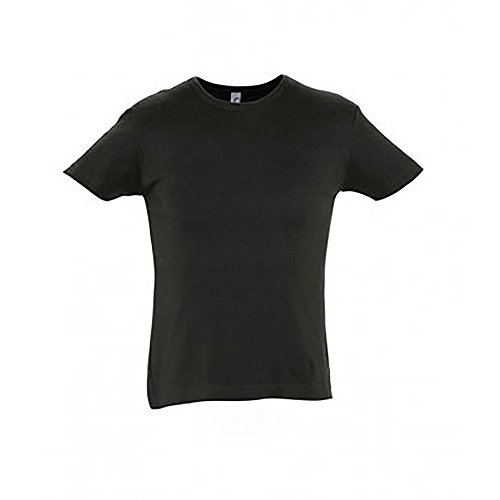 SOLS Unisex City Close Kurzarm T-Shirt Schwarz