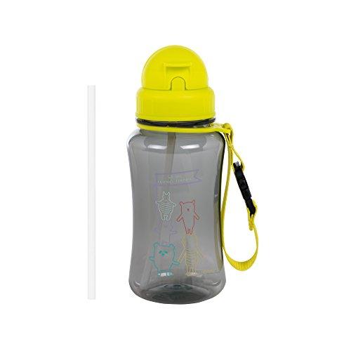 Lässig 1210004224 Trinkflasche mit Strohhalm/Drinking Bottle About Friends, mehrfarbig