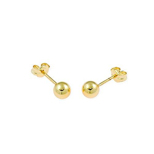 Pendientes de mujer, bola 5 mm en oro de 9 kts. Bravo Heart | Pendientes de bola, pendientes infantiles, pendientes en oro amarillo, pendientes de bola, pendientes de mujer, pendientes en oro de 9 qu