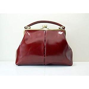 """Leder Handtasche, Ledertasche""""Olive"""" in dunkelrot, im Vintage Stil"""