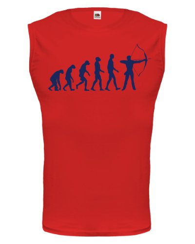 buXsbaum® Tank Top The Evolution of archery Red-Navy