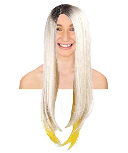 THEHAIRDROBE Ombre blond und gelb sexy Berühmtheit Festival Halloween Art und Weise Perücke HW-086