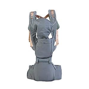FTVOGUE Baby Carrier Infant Neugeborenen Hüft Sitz Ergonomische Wrap Sling Rucksack mit Winddicht Kappe(Rose)