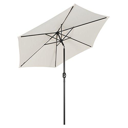 Sekey® 2.7m Parasol inclinable pour Patio Jardin Balcon Piscine Plage Rond Sunscreen UV50+ Crème