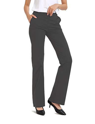 Safort Regular/Tall Bootcut Yoga Hose mit 71cm/76cm/81cm/86cm Schrittlänge, 4 Hosentaschen,Lange Bootleg-Hose, Flare-Hose - Bootcut-grün