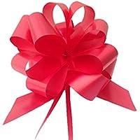30 noeuds cadeaux à monter diamètre 10 cm bandeau de 3,0 cm pour usage Voiture maison mariage faire-part baptème titres ou de communion blanc Ivoire Bleu Rose Rouge Vert ou Fushia rouge