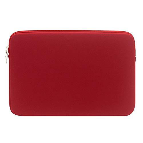 Laptop Hülle Tasche Neopren Wasserdicht für 13 Zoll MacBook Mac Air Pro Retina,WeinRot