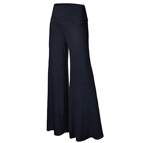 Lanmworn Women Wide Leg Pants Palazzo Pants High Waist Loose Long Culottes, Casual Flare Pleat Flowy Trousers 6 Colors