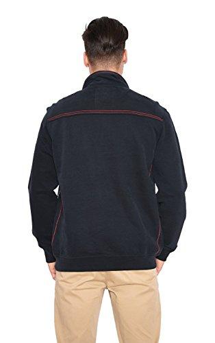 Paul Grant Premium SW-Rugby-Shirt aus Baumwolle-gepeacht Schwarz