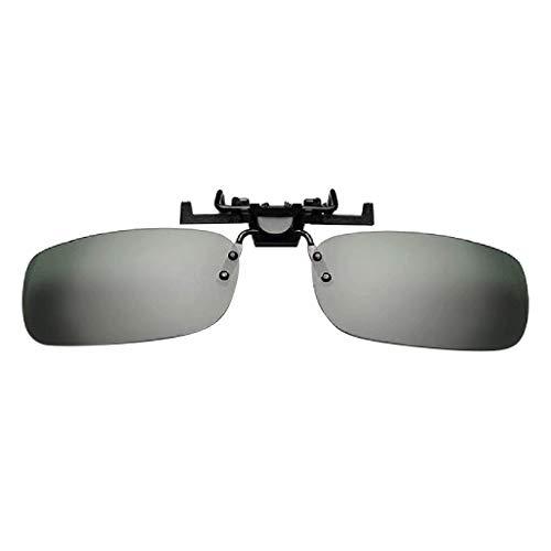 Clacce Polarisierte Unisex-Clip auf Sonnenbrille für verschreibungspflichtige Brillen-gute Clip-Stil Sonnenbrille für Myopie Brille im Freien/Fahren/Angeln
