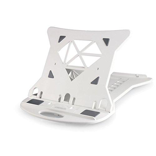 Support pour ordinateur portable pliable réglable, table de bureau noir Support d'écran portable pour support multiple (Couleur : Blanc, taille : 28 * 28 * 2CM)