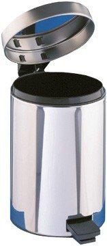 Blanc HYGIENIC *SALE* Badezimmer Abfallbehälter, Abfalleimer 12 Liter mit Fußpedal und Einsatzeimer