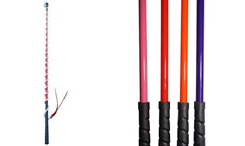 Kontaktstock Größe: 120cm Stock, 190cm Schlag inkl. Lederende (schwarz)