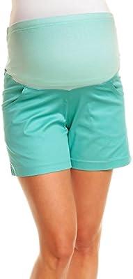 Happy Mama. Para mujer premama pantalones cortos banda elástica bolsillos. 116p