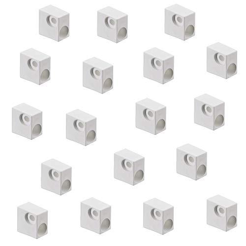 Korpusverbinder Möbelverbinder zum Schrauben Schrank-Verbinder - H10510 | Holzverbinder Kunststoff weiß | Winkelverbinder für Möbel-Bau - Kästen - Ecken | 20 Stück - Eckverbinder Winkel-Beschlag