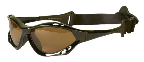 Waveshields Watersports Sunglasses Black Frame Amber Lens