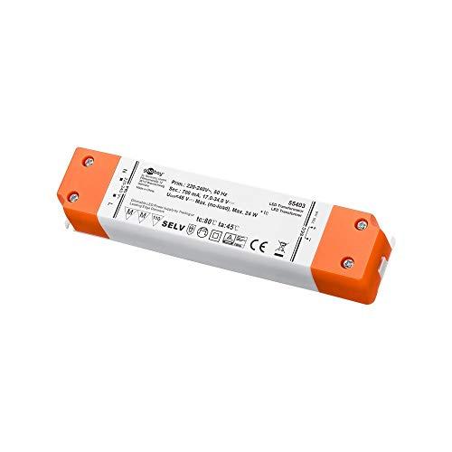 Goobay LED Konstantstrom-Trafo /24 W Dimmbar, 700 mA CC für LEDs bis 24 W Gesamtlast