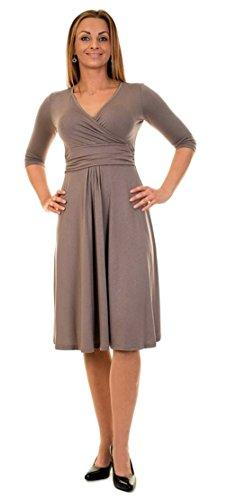 Divita 3in1 Stillkleid Umstandskleid Umstandsmode Kleid D25 (40/L, Cappuccino) - 3