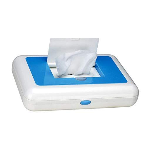 XJZHANG Wipe-Wärmer Feuchttücher Spender Halter Baby-Wipes Heater Haushalt Auto Dual-Use-Wipes Heizung Box mit Auto-Ladegerät,Blau