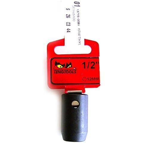 Teng tools cromo-molibdeno acciaio inox Parete Impatto Socket 12mm
