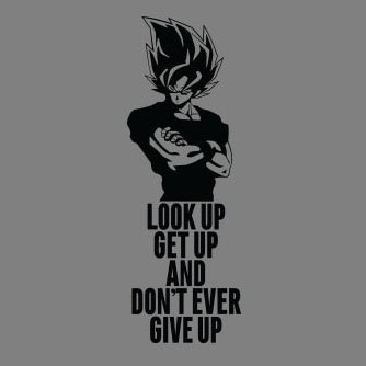 DBZ: Look up Get up - Damen T-Shirt Hellgrün
