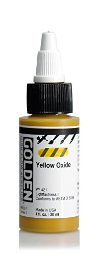 golden-high-flow-acrylic-30ml-1oz-bottles-yellow-oxide