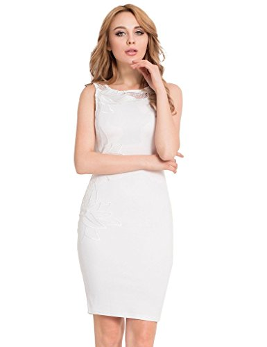 Ohyeah - Robe - Moulante - Sans Manche - Femme Blanc