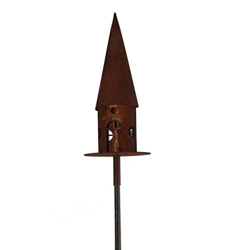 Metall Vogelhaus in Edelrostoptik von Saremo   rund auf Metallplatte Ø 22cm   2-teilig inklusive...