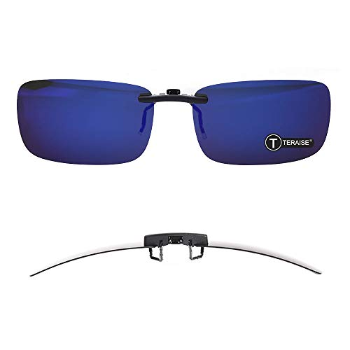 TERAISE Polarized Clip-on Sunglasses Over Prescription Glasses Anti-Glare UV402 for Men Women Driving Travelling Outdoor Sport …
