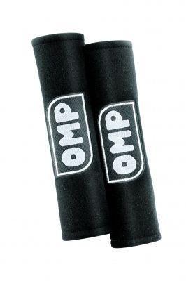 omp-ompdb-454-n-cuscinetti-di-velluto-con-logo-argento-colore-nero-set-di-2