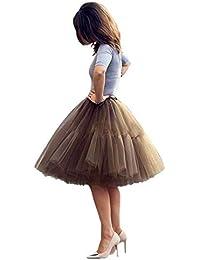 best service aa61c aaa66 Amazon.it: gonna tulle - Marrone / Donna: Abbigliamento