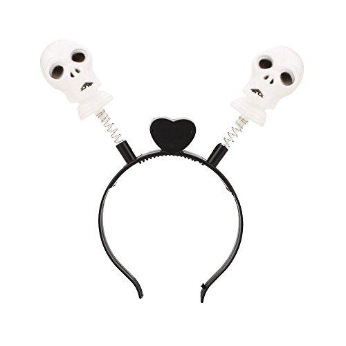 Gulin Halloween LED leuchten Haarband Kopfband Kürbis-blinkende Partei, Schädelfedermuster (Aus Halloween-kostüm Led-leuchten)