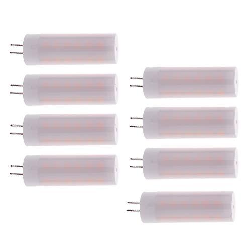 (MagiDeal 8Pcs LED Flamme Glühbirne G4 LED Feuer Lampe Flammeneffekt Simulation Flackerlicht Flamme Lichter Warmweiß für Bar, Haus, Festival, Party, Hochzeit)