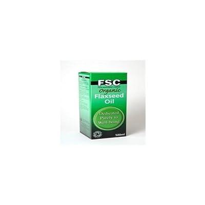 Organic Flaxseed Oil (500ml) - x 2 *Twin DEAL Pack* by FSC