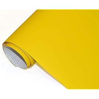 Neoxxim 4€/m² Auto Folie matt - gelb matt gelb 200 x 150 cm Klebefolie Dekor Folie dehnbar auch für Möbel