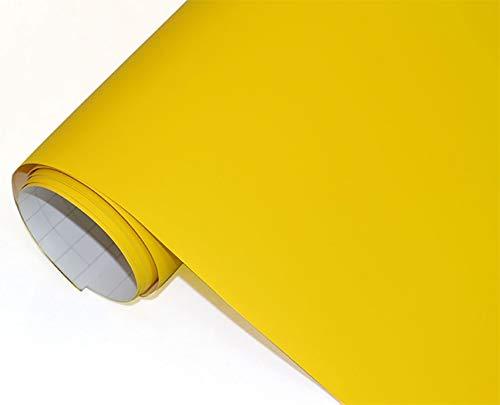 c53f76ddcd6b Neoxxim 4€ m² Auto Folie matt - gelb matt gelb 50 x 150 cm Klebefolie Dekor  Folie dehnbar auch für Möbel