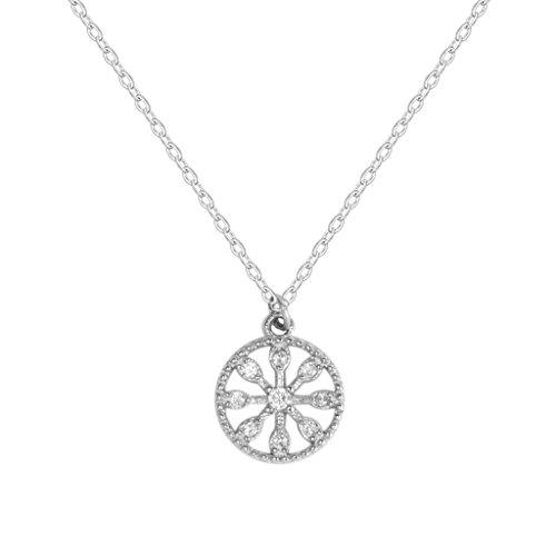 Y&g gy ciondolo ruota in argento sterling s925 collana con pendente a forma di amore collana a forma di cuore femminile con orecchini a forma di cuore /+*+/