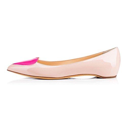 Kolnoo - Zapatos Cerrados Beige Para Mujeres