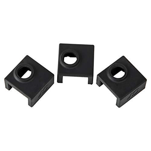 Comgrow Upgrade Calefactor Bloque Cubierta de silicona MK7 / MK8 / MK9 Hotend 3pcs Paquete para Creality CR-10, 10S, 10S4, 10S5, Ender 3, CR20