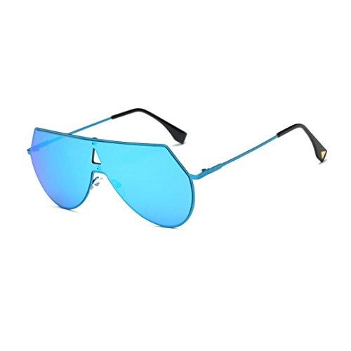 Vintage Metallrahmen Sonnenbrille Rosennie Sommer Quadratische Sonnenbrille für Männer und Frauen Damen Retro Square Frame Brille Unisex Mode Flieger Wayfarer Stil Polarisierte Gläser UV400 Brille (C) (Blaue Pixel Sonnenbrille)