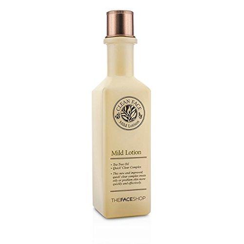 The Face Shop - Mild Lotion - Lotion à base d'huile d'arbre à thé pour les peau sèches pour les femmes et les hommes - Lotion pour les pores de la peau - Peau irritées