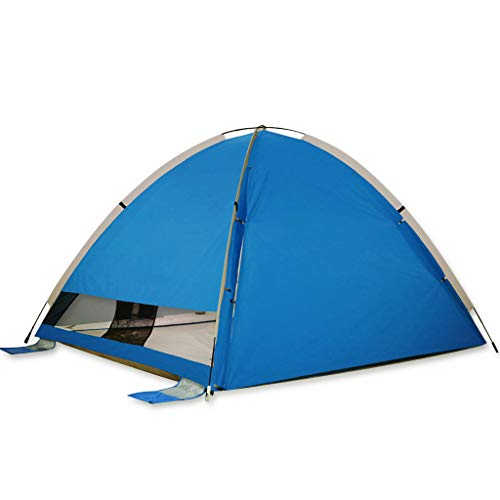 OLLY Marke Zelt Strandzelt Automatisches Instant Pop Up Familienzelt Regendichtes, Leichtes Kuppelzelt Im Freien, 4 Farben (Farbe : Blau)