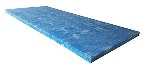 snoozo GELAX | Atmungsaktiver Gel-Schaum Topper Matratzenauflage | Ohne Bezug | RG 50 | 5 cm Gesamthöhe | Alle Zuschnitte und Größen möglich | Qualität Made in Germany (160 x 200 cm) - Visco-elastisches Gel