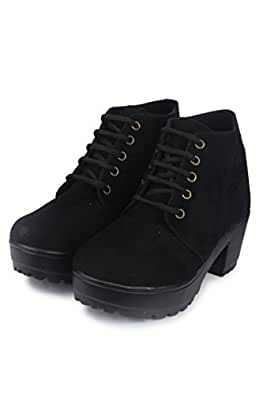 Do Bhai Boot-MSD Heel Shoes for Women (Euro36, Black)