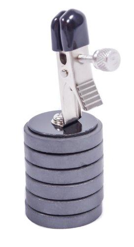 Nippelklammern mit Magnet-Gewichten - Trainings Nip clamps Brust Klammern - inkl. 6 Gewichten - BDSM SM Fetish