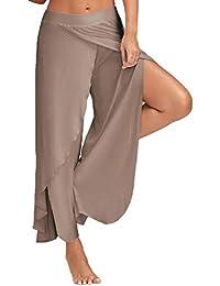 FITTOO Pantalon Yoga Femme Large Jambe Sarouels Harem Bloomer Casual  Extensbile pour Danse Pilates Fitness Sport 70886846e5a