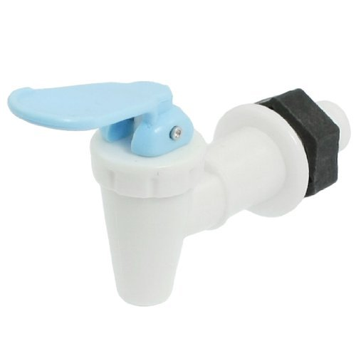 De repuesto blanco y azul de plástico grifo de dispensador de agua