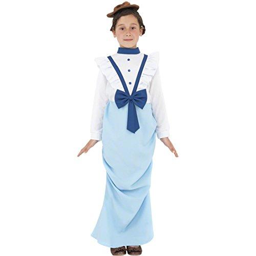 Kostüm Gouvernante (Feudales viktorianisches Kleid Kinderkostüm Gouvernante 158 cm nobles Mädchenkostüm Edeldame Englische Lady Kostüm Madame Outfit Adelsdame Kinderfasching)