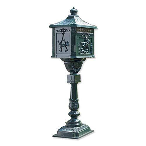 Yuang Briefkasten, Report Box Klassische europäische Villa Garten im Freien stehende Art Boden im Freien Cast Aluminium Mailbox (Farbe: A) - Cast Aluminium Outdoor-bar