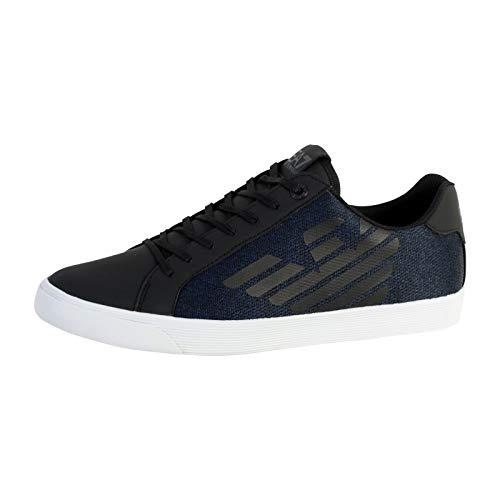 Emporio Armani , Herren Sneaker Blau Blau/Schwarz, Blau - Blau/Schwarz - Größe: 42 EU